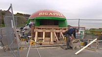 From the archive: Repairing the Big Apple kiosk is repaired