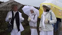 The women in white who are fighting fracking
