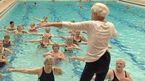 Aqua aerobics teacher on keeping fit at 90