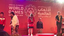 Gymnast returns victorious from Special Olympics