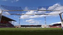 Farewell to football ground's floodlights