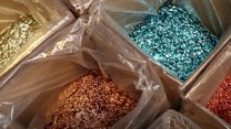 Biogradeable glitter backed by Attenborough