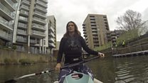 Clearing London's waterways from a paddleboard