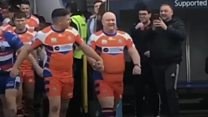 Stag do man gets rugby mascot surprise