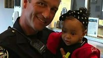 California officer saves choking baby