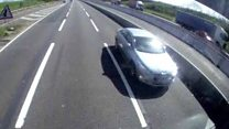 Man drove wrong way in M1 fast lane