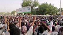 Sudan anti-Bashir protesters celebrate