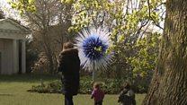 Glass sculptures at Kew Gardens