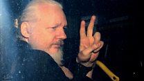 An kama Julian Assange a Landan