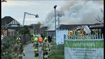 Major fire rages at former hospital