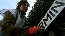 'Me, my trusty sponge, and road signs'