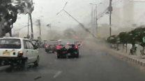 Fatal dust storm in Pakistan