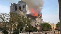 Massive flames at Notre Dame