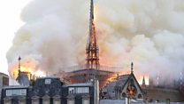 Notre-Dame cathedral fire eyewitness: 'We could feel the heat from 100m away'
