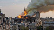 Notre-Dame yangını: Katedralin kulesi çöktü
