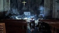 First look inside Notre-Dame cathedral after fire
