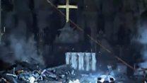 Las primeras imágenes de los destrozos en el interior de Notre Dame