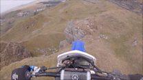 Biker survives after 30ft quarry fall
