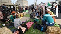 12 млн фунтов ущерба и 300 арестованных: прямое включение с экологического протеста в Лондоне