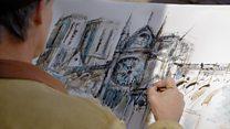"""""""Это наш дом"""". Парижский художник - о том, почему он решил написать Нотр-Дам после пожара"""