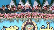 تجلیل روحانی از سپاه پاسداران در روز ارتش