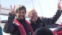 مرد نابینای ژاپنی عرض اقیانوس آرام را با قایق طی کرد
