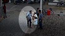 Смертник на Шри-Ланке. Первое видео с камер наблюдения