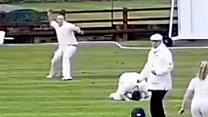 Cricket fielding mishap goes viral
