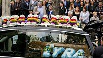 The funeral of Lyra McKee is held in Belfast