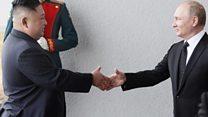 Kuzey Kore lideri Kim Jong-un, Rusya lideri Vladimir Putin ile buluştu