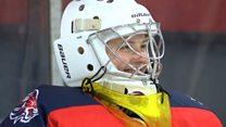 'I play ice hockey with men'