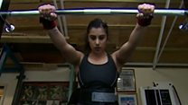 The weightlifter whose dad has her back