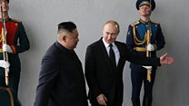 اولین دیدار رهبران کره شمالی و روسیه
