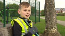 Boy, eight, picks litter 'for next generation'
