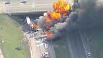 Several deaths feared in fiery collision