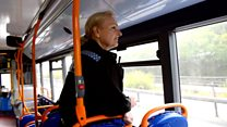 On the bus catching mobile phone drivers