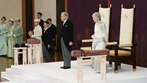 天皇陛下、退位 皇居で儀式