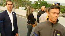 El video de Juan Guaidó y Leopoldo López libre en Caracas