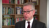 Gove 'shares high ideals' of climate protesters
