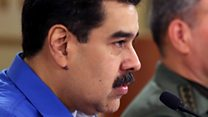 Venezuelan president's defiant TV address