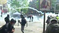 Đụng độ dữ dội tại Paris trong ngày Quốc tế Lao động
