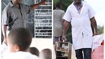 Mwalimu Maprosoo muuza mshkaki