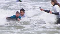 Surf therapy for children in the UK