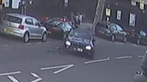 Cyclist thrown off bike in hit and run