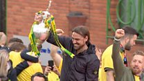 Fans celebrate Norwich City promotion