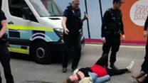 Protest against immigration raid