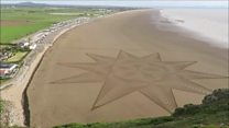 Sand Art creation on Brean Beach