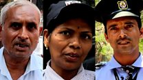 India's security guards take on 'watchman Modi'