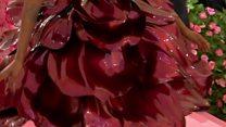 A dress with 3D-printed petals