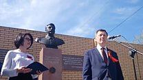 В Новосибирске открыли памятник Сталину
